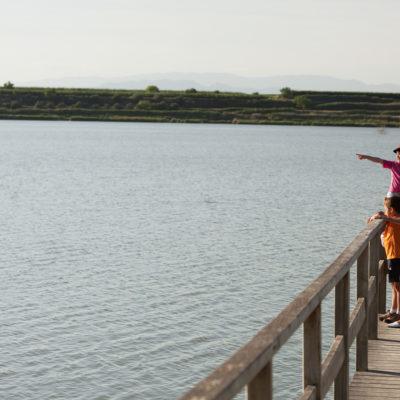Traust du dir zu, mit einem Sportflugzeug über dem See von Ivars i Vila-sana zu fliegen