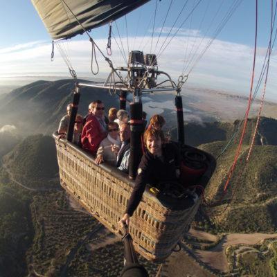 Alles, was man in einem Heißluftballon machen kann